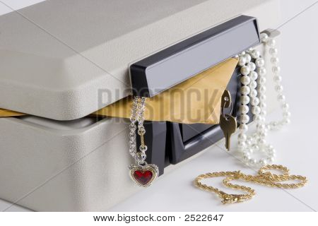 Lock Box With Items