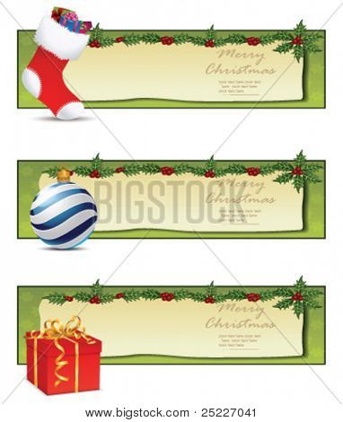 Christmas banners. Vector