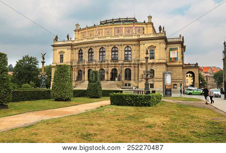 Prague, Jun 11 2018 - The Rudolfinum Prague, A Beautiful Neo-renaissance Building Which Is Home To T