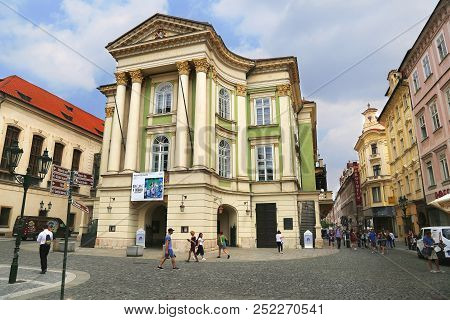 Jun 11, 2018 Prague, Czech Republic: View Of The Estates Theatre In Prague, Czech Republic