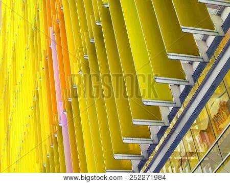 Acrylic Plastic Sheet Interior And Exterior Outdoor Have A Orange Yellow Brown