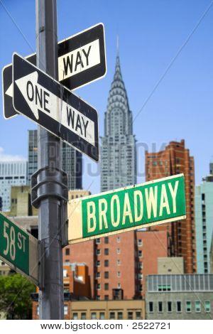 Broadway-Zeichen