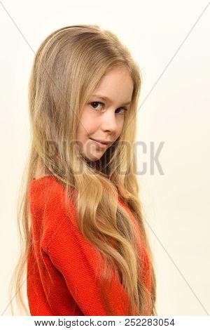 Hair Treatment. Hair Treatment In Hairdresser Salon Isolated On White. Treatment For Hair Of Little