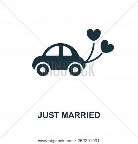 Just Married Creative Icon. Simple Element Illustration. Just Married Concept Symbol Design From Hon