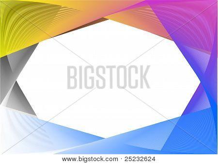 Rainbow Vector Frame