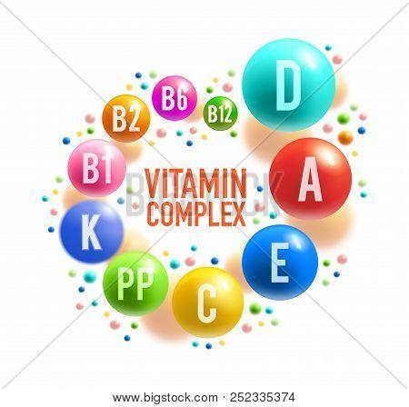 Vitamin Pill Or Multivitamin Complex Banner Design