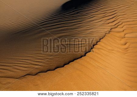 Patterns in the sand of a sand dune created by the wind, South Africa