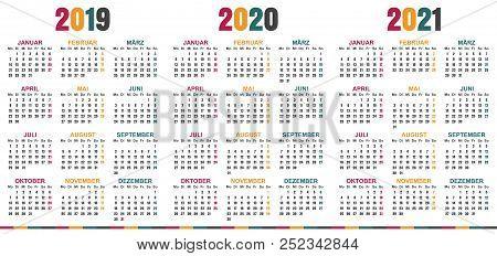 Nyc School Calendar 2020 2021.German Planning Vector Photo Free Trial Bigstock