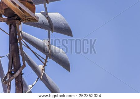 Close Up Of An Old Australian Windmill