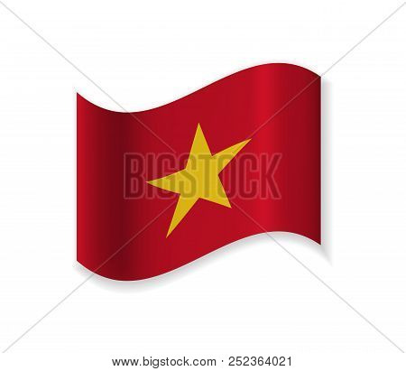The Official Flag Of Vietnam. Official Country Sign.