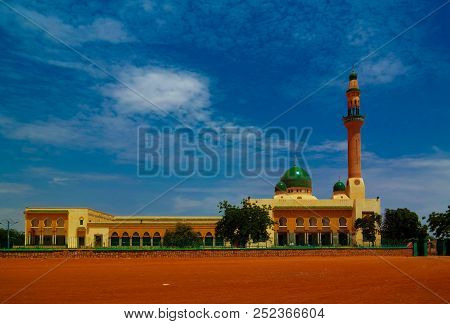 Exterior View To Niamey Grand Mosque, Funded With Money From Libyan Government Of Gaddafi, Niamey, N