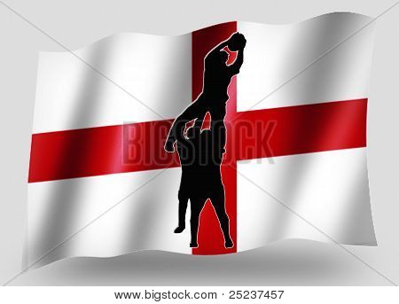 Country Flag Sport Icon Silhouette English Rugby Lineout