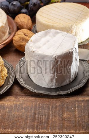 Belgian White Mold Soft Cow Milk Cheese Bouquet Des Moines From Abbey Of Val-dieu Close Up