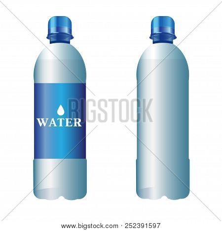 Vector Isolated Illustration Of Plastic Bottle Of Pure Water