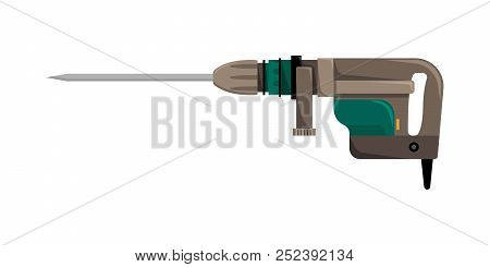 Vector Illustration Of The Puncher For The Construction Organizations.