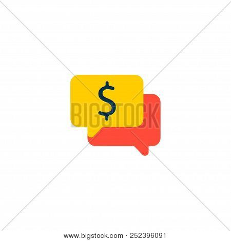 Conversation Icon Flat Element.  Illustration Of Conversation Icon Flat Isolated On Clean Background