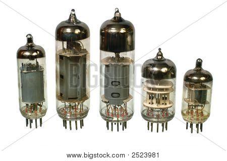 Old Vacuum Radio Tubes.