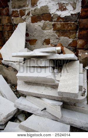 Marble And Masonry Debris