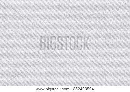 Fabric Pattern Gray With White Stripes. Light Textured Vector Background, Bright Backdrop, Soft Text