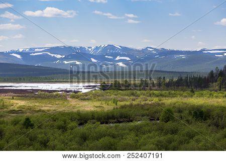 Snow-covered Mountain Range