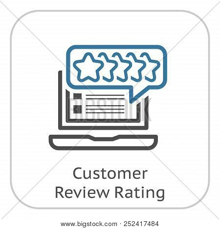 Customer Review Rating Line Icon. Client Satisfaction Symbol. Customer Relationship Management. Isol