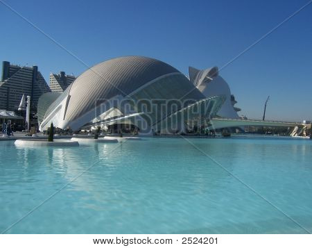 The Art museam in Valencia viewed from