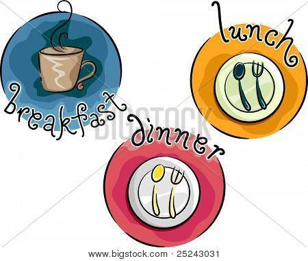 Icon Illustration Representing Meals