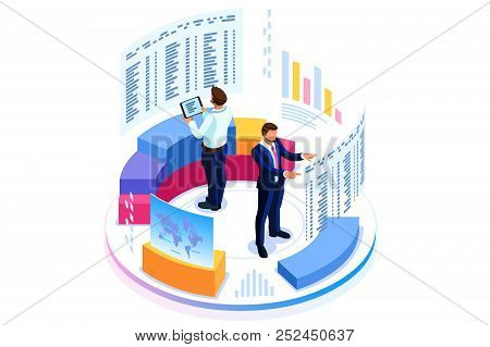 Financial Administration Concept. Consulting For Company Performance, Analysis Concept. Statistics A