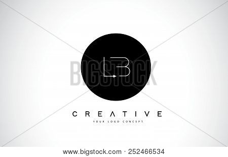 Lb L B Logo Design With Black And White Creative Icon Text Letter Vector.