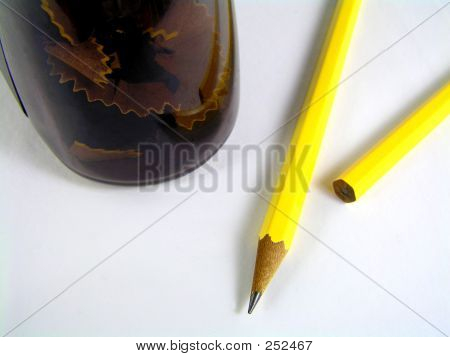 Pencil With Electric Sharpener