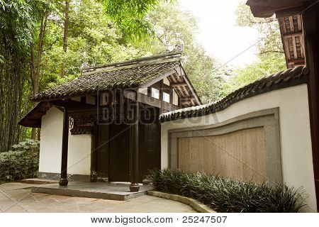 Chinese Style Residential In Bamboo Forest