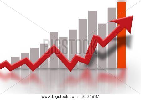 finanzielle Bar Graph-Diagramm