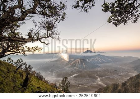 Mount Bromo Is An Active Volcano One Of The Most Visited Tourist Attractions In East Java, Indonesia