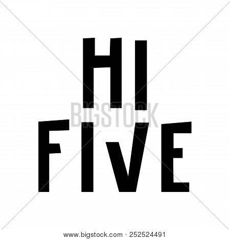 hi five hand drawn vector photo free trial bigstock