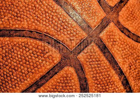 Old Basketball, Close-up, A Symbol Of Basketball