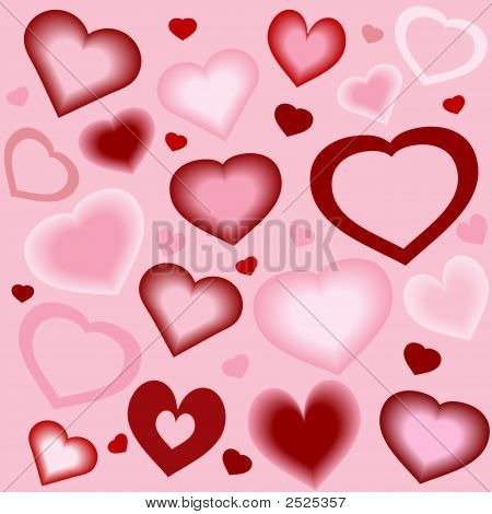 Stylized Hearts Background