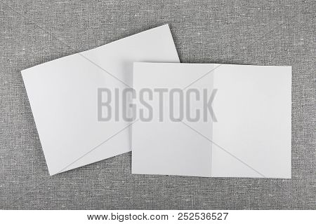 Identity Design, Corporate Templates, Company Style, Set Of Booklets, Blank White Folding Paper Flye