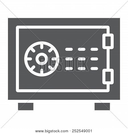 Safe Glyph Icon, Finance And Banking, Security Sign, Vector Graphics, A Solid Pattern On A White Bac