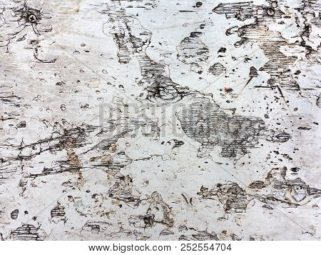 Authentic Background Of Wooden Surface As Background. Slides From The Sole Of The Shoe.