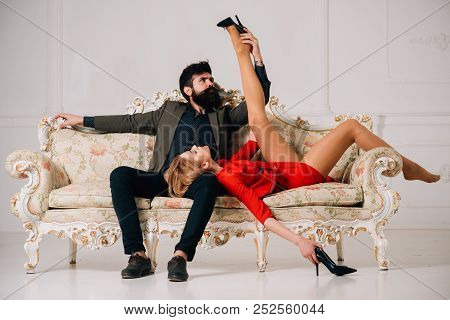 Submission. Submission Of Woman To Bearded Man. Sexy Couple Submission. Submission Games In Love Rel