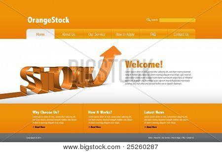 Vector Stock Website Template