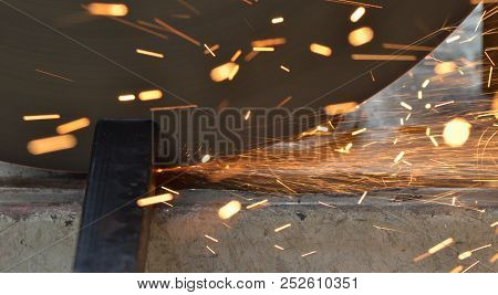 Abstract Blur Image Of Spark Stream From Steel Cutter Machine, Sparkle Light, Sparkle Stream, Steel