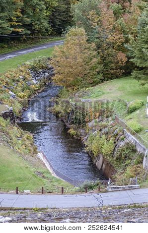 Runoff From The Otter Brook Dam, Which Provides Flood Control For The Towns Near Keene, New Hampshir