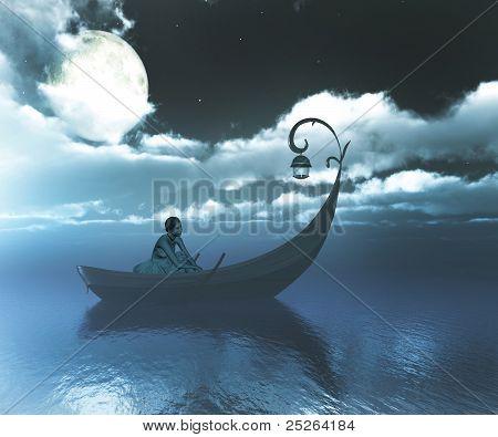 Girl On Boat.