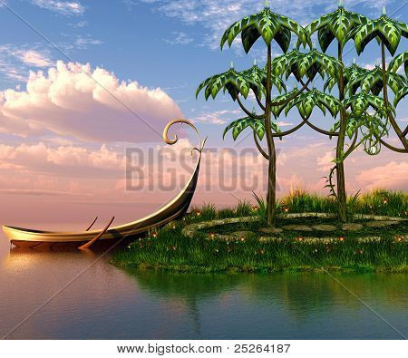 Boat In The Island