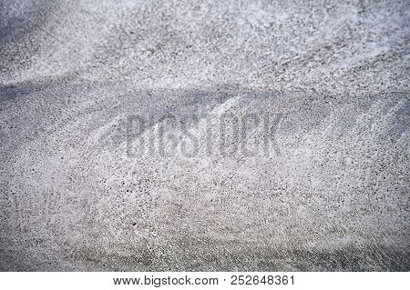 New Freshly Power Troweled Drying Concrete At Concrete Yard Construction.