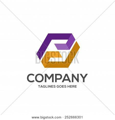 Abstract Letter Pd Logo Design Template Elements. Abstract Letter Pd.business Corporate Letter Pd Lo