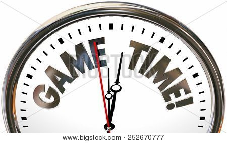 Game Time Play Have Fun Competition Clock 3d Illustration