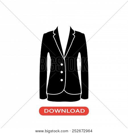 Jacket Elegant Feminine Vector Icon Flat Style Illustration For Web, Mobile, Logo, Application And G