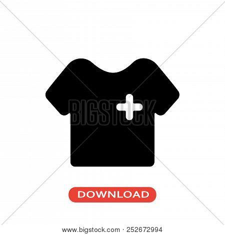 Nurse Uniform Vector Icon Flat Style Illustration For Web, Mobile, Logo, Application And Graphic Des